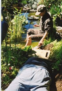 2002 summer - expand and repair the pond - Karl and Ann - 7147 Hagan.jpg